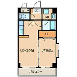 クオン千原 (クオンチハラ)[2階]の間取り