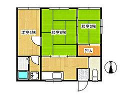 新岩荘[2階]の間取り