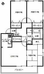 フォブール東山崎A[2階]の間取り