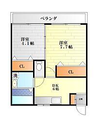 栄田建設森崎ビル[3002号室]の間取り