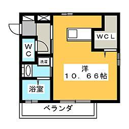 Est Koike 2階ワンルームの間取り