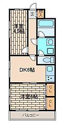 サンコート野田[3階]の間取り