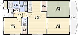 ハイグレード法善寺[3階]の間取り