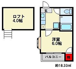 リヴィエール南福岡[2階]の間取り