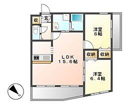 小原橋マンション[5階]の間取り
