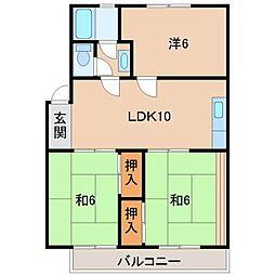 中野ハイツ[1階]の間取り