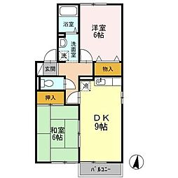長崎県大村市原口町の賃貸アパートの間取り