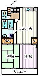 埼玉県さいたま市桜区大字西堀の賃貸マンションの間取り