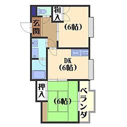 長岡中央第一ビル[302号室]の間取り