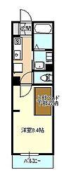 エヌズハウス東橋本II[203号室]の間取り