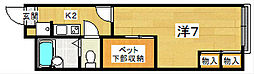 レオパレス茶屋[2階]の間取り