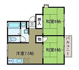 シャルム森[2階]の間取り