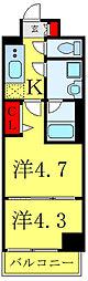 都営三田線 西巣鴨駅 徒歩7分の賃貸マンション 2階2Kの間取り