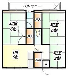 ビレッジハウス鈴蘭台[1階]の間取り