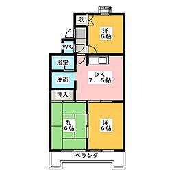 リバーサイドハーチャ[2階]の間取り