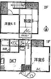 [テラスハウス] 神奈川県平塚市御殿2丁目 の賃貸【神奈川県 / 平塚市】の間取り