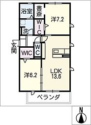 仮)D−room豊田市寺部[1階]の間取り