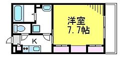 JR中央線 武蔵小金井駅 徒歩8分の賃貸アパート 2階1Kの間取り