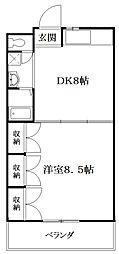 鴻臚館[2階]の間取り