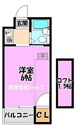 川辺ビル287[4階]の間取り