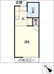 平針VOX[2階]の間取り