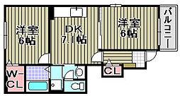 デーア3[105号室]の間取り
