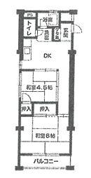 武庫之荘コーポラス[309号室]の間取り