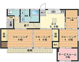 [一戸建] 東京都八王子市山田町 の賃貸【/】の間取り