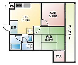 平成マンション[2階]の間取り