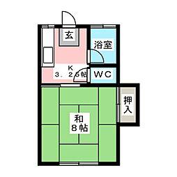 永田コーポ[2階]の間取り