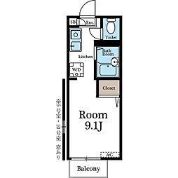 グレイス幕張A棟[105号室]の間取り