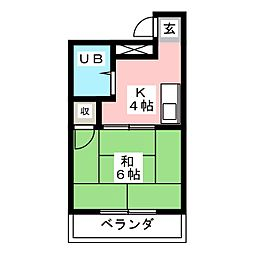 西須ヶ口ハイツ[1階]の間取り