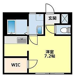 愛知県豊田市竜神町新生の賃貸アパートの間取り