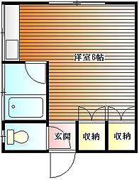 朝井ハイツ[201号室]の間取り