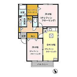 シェリールS&S(青木島町綱島)B棟[101号室号室]の間取り