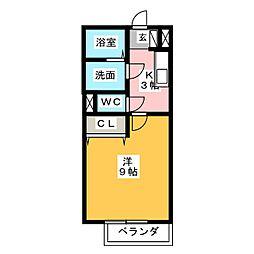 サンクレールC[2階]の間取り