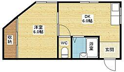 栄考マンション[4階]の間取り