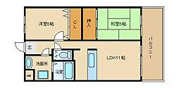 エタージュ高井田[305号室]の間取り