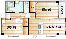 K-T・M・Jビル[5階]の間取り