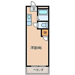 ベルハウス[B103号室]の間取り