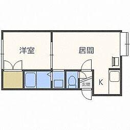 フローラル46[3階]の間取り