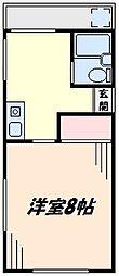 神奈川県川崎市川崎区小田5丁目の賃貸アパートの間取り