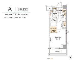東京都中央区月島4丁目の賃貸マンションの間取り