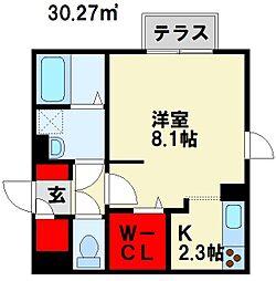 ヴィアンジュ黒崎[3階]の間取り