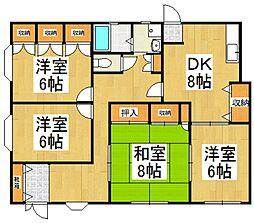 JUN東村山B棟[1階]の間取り