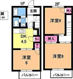 [テラスハウス] 愛知県春日井市如意申町 の賃貸【/】の間取り