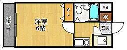 ロイヤルメゾン西宮北口ガーデン[4階]の間取り