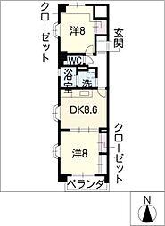 ガーデンコート[2階]の間取り