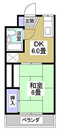 コーポキャッスルエイト[2階]の間取り