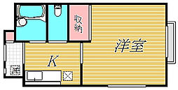 東京都板橋区大原町の賃貸アパートの間取り